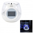 LED Colorful Light Alarm Clock with Aroma Function - White (3 x AAA)