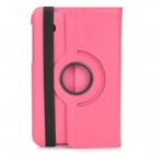 Protective PU Leather Case for Samsung Galaxy Tab P3100 / P6200 - Deep Pink