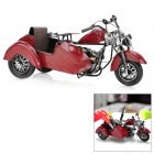 Creative Motorcycle Style Desktop Pen Holder - Red