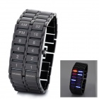 Fashion Man's LED Digital Display Waterproof Alloy Wrist Watch - Black (1 x CR2016)