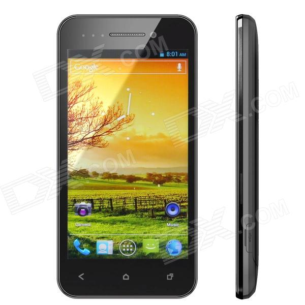 "X12 Android 4.0 WCDMA 3G Smartphone w/ 4.0"" Capacitive Screen, GPS, Wi-Fi and Dual-SIM - Black"