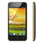 "X12 Android 4.0 WCDMA Smartphone w/ 4.0"" Capacitive Screen, GPS, Wi-Fi and Dual-SIM - Black + Golden"