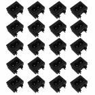 DIY 2-Pin 2,5 A / 250V Steckdose Inlet - Black (20 PCS)