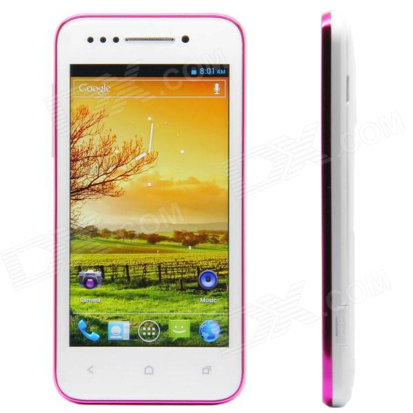"X12 Android 4.0 WCDMA Smartphone w/ 4.0"" Capacitive Screen, GPS, Wi-Fi and Dual-SIM - White"