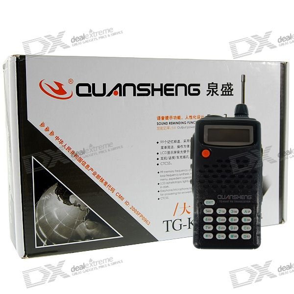 QS TG-K4AT 5W 10KM 400~470MHz Rechargeable Walkie Talkie with Charging Dock