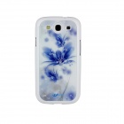 Protective ABS Plastic Case for Samsung i9300 Galaxy S3 - White + Blue