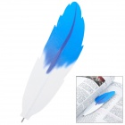Creative Feather Style Ball Point Pen - White + Blue