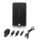 Dual USB Rechargeable 6800mAh Emergency Battery Pack w/ Adapters for Cell Phone + More - Black