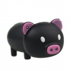 Cute Cartoon Pig Style USB 2.0 Flash Drive - Black (8GB)