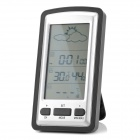 "3.8"" LCD Digital Indoor / Outdoor Weather Station - Silver + Black (2 x AA)"