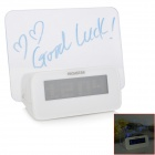 "3.0"" LED Blue Backlight Alarm Clock w / Message Board / Thermometer / Calendar (3 x AAA)"