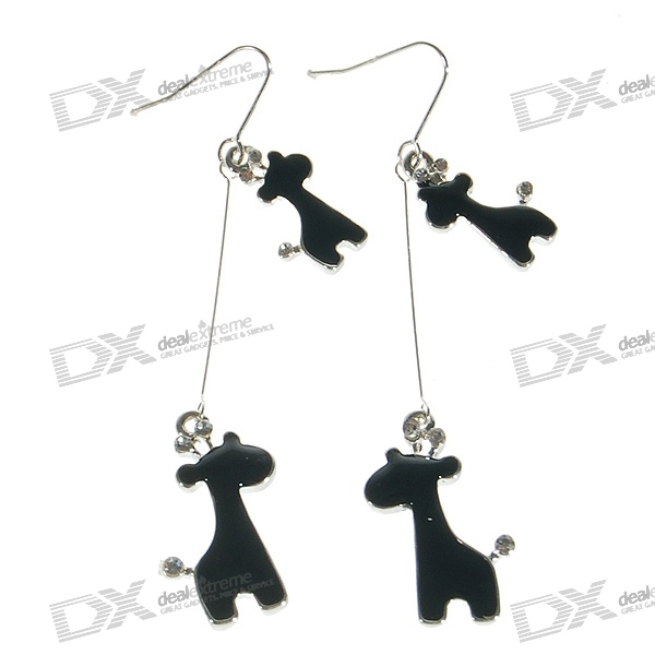 Cute 925 Silver Giraffe Earring with Gift Box