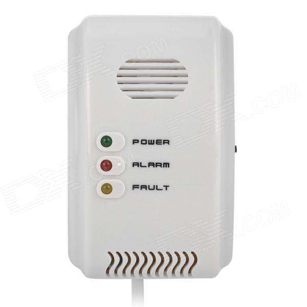 Electronic Wired Gas Leak Detector Alarm w/ EU Plug - White (AC 220V)