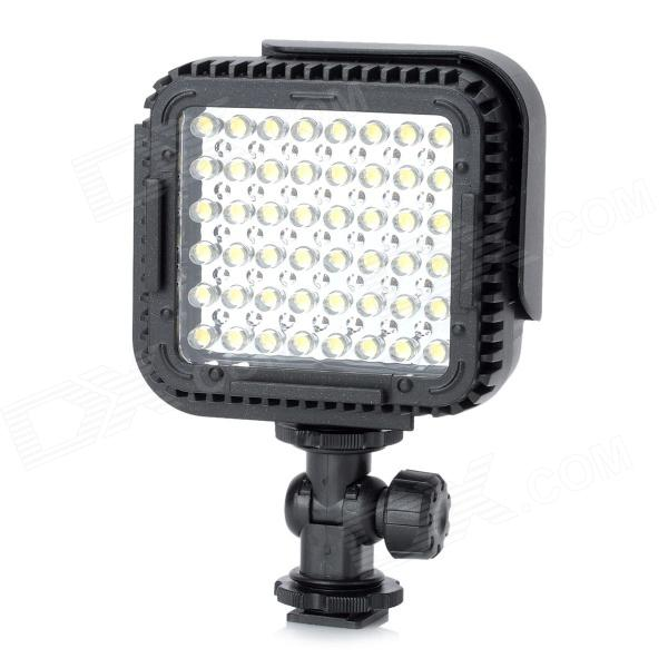 2.9W 5400K 300lm 48-LED Flash Video Lamp - Black