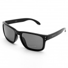 Outdoor Sports UV400 Protection Resin Polarized Sunglasses - Black