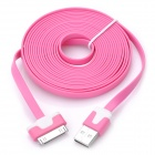 IMOS USB Male to Apple 30 Pin Dock Male Flat Cable - Pink (300cm)