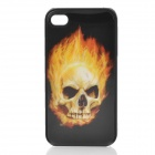 Protective Back Cover  w/ 3D Skull Image for Iphone 4 / 4S