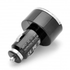 Dual USB Car Charger for IPAD / IPHONE - Black (DC 12~24V)