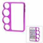 Plastic Knuckle Protective Frame for Iphone 4 / 4S - Deep Pink