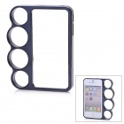 Protective Knuckle Bumper Frame Case for Iphone 4 / 4S - Black