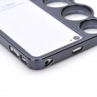 Caso do quadro Bumper Knuckle protetora para iPhone 4 / 4S - preto