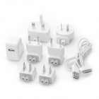 Apple World Travel Adapter Kit w/ USB Cable for iPod / iPad / iPhone - White (AC 100~240V)
