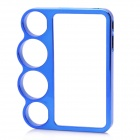 Protective Knuckle Bumper Frame Case for Iphone 4 / 4S - Blue