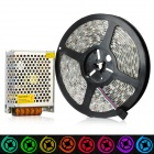 Waterproof 72W 300*5050 SMD RGB LED Flexible Light Strip w/ Power Supply / Controller