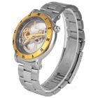 IK Colouring Man's Steel Band Mechanical Watch - Golden + Silver