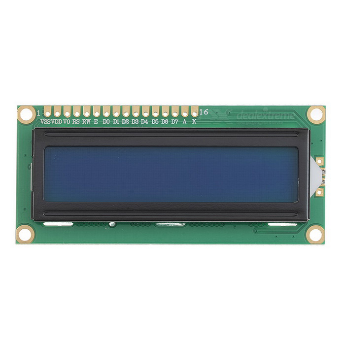 1602A 16*2 Lines White Character LCD Module w/ Blue Backlight (5V)