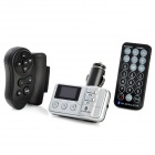 1.0&quot; LCD Bluetooth Handsfree Car MP3 Player FM Transmitter w/ SD - Silver