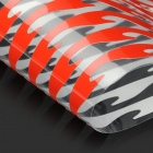 "12"" Flame Style Motorcycle Reflective Sticker - Red (2 x 8 PCS)"