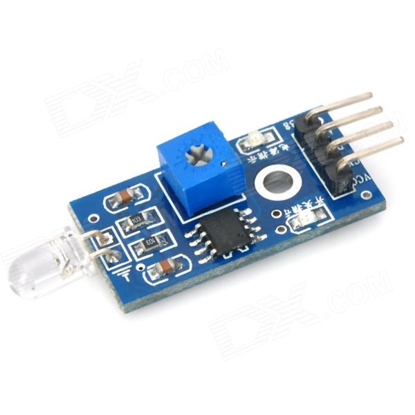 Smart Car Photodiode Brightness Sensor Module w/ 4 DuPont Lines - Blue 16 characters 2 lines character lcd1602 module blue backlight
