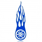 Wind-fire Rings Style Motorcycle Reflective Sticker - Blue