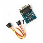 RS232 Serial Port To TTL Converter Module w/ Transmitting and Receiving Indicator - Blue