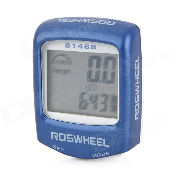 "1.5"" LCD Electronic Bicycle Computer / Speedometer - Blue + White (1 x LR1130)"