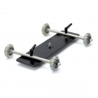 Floor Table Video Slider Track Dolly Car for DSLR Camera - Black + Silver
