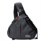 Caden K1 Professional Triangle Crossbody Shoulder Bag for DSLR Camera - Black
