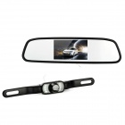 "800E 4.3"" Wireless Car Rearview Mirror LCD Monitor Kit - Black"