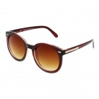Fashion UV400 Protection Round Shape Resin Lens Sunglasses - Wine Red