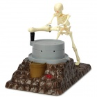 BOSITOYS B0136 Skeleton Push the Millstone Coin Bank Toy - Brown + White + Grey (3 x AAA)