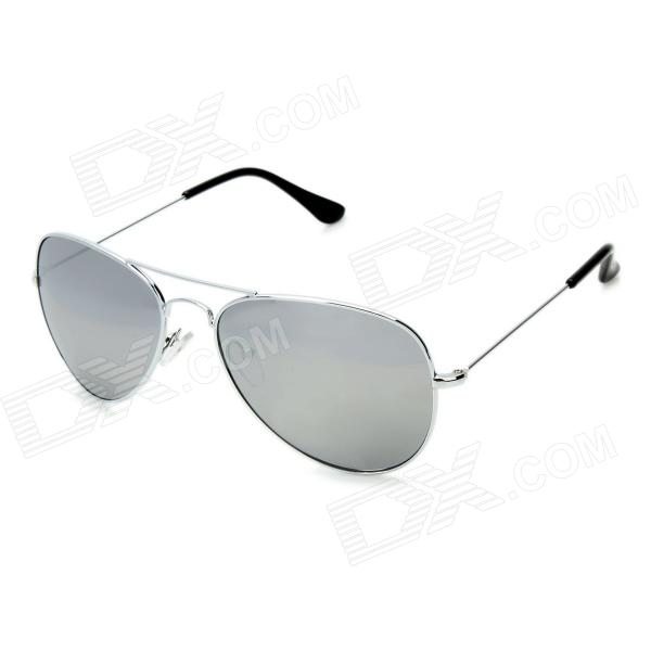 Classic UV400 Protection Sunglasses - Silver + Black