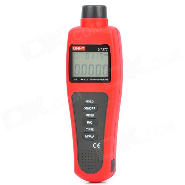 "UNI-T UT372 1.8"" LCD 5-Digit Red Laser Tachometer - Red + Grey (4 x AA)"