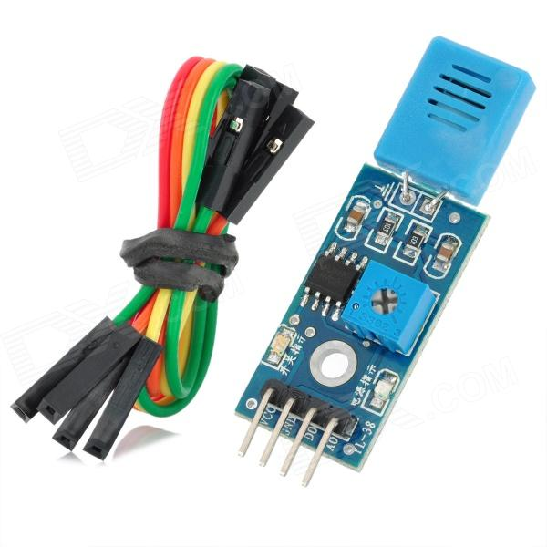HR202 DIY Hygristor Humidity Detection Sensor Module - Blue