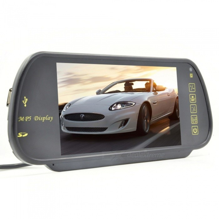 "7"" TFT LCD Car Vehicle Rearview Mirror Monitor - Black"