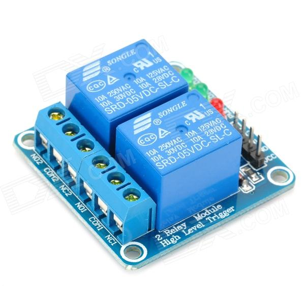 2 Channel 5V High Level Trigger Relay Module for Arduino (Works with Official Arduino Boards) 8 channel 5v relay module board for arduino works with official arduino boards