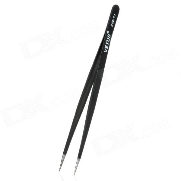 где купить VETUS ESD-11 Anti-static Straight Sharp-Nose Tweezers - Black (14cm) по лучшей цене