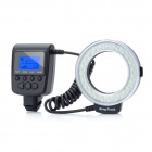 "HL-48S 1.6"" LCD 10W 3000~15000K 48-LED Macro Ring Flash Light for Sony DSLR - Black (4 x AA)"