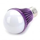 E27 7W 4000K 700lm 14-LED Warm White Light Bulb - Purple (AC 85~265V)