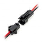 2 Pin Male & Female LED-Koppler Band Draht für elektrische DIY - Schwarz + Rot (40cm)
